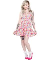 šaty dámské SOURPUSS - Skater Rotten Hearts - Multi Colors - SPDR65