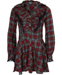 šaty dámské DEAD THREADS - Blk/Red/Grey - DC9098