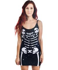 šaty dámské TOO FAST - Bettie - Heart Bones - WDBE-T-HRTBN