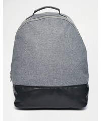 ASOS - Rucksack mit großem Reißverschluss aus Metall - Schwarz
