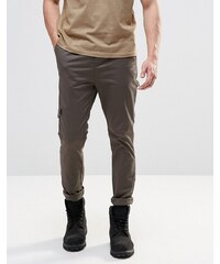 ASOS - Pantalon cargo skinny - Kaki - Vert