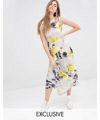 Every Cloud - Trellis - Geblümtes Kleid mit tief sitzender Taille - Mehrfarbig