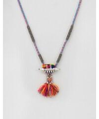Glamorous - Halskette mit Bommeln und Quasten - Mehrfarbig