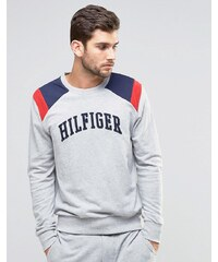 Tommy Hilfiger - Sweat ras de cou à motif color block - Gris