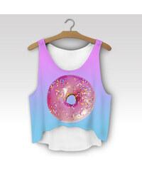 Wayfarer Crop-top tílko Pink donut