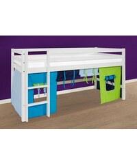 Kinder HOPPEKIDS Halbhohes Bett Multicolor blau