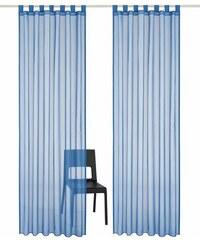 Gardine Xanten (2 Stück) MY HOME blau 1 (H/B: 145/140 cm),2 (H/B: 175/140 cm),3 (H/B: 225/140 cm),4 (H/B: 245/140 cm),5 (H/B: 295/140 cm)