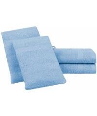 Dyckhoff Handtuch Set Planet mit schlichter Bordüre blau 4tlg.-Set (siehe Artikeltext)