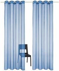 MY HOME Gardine Xanten (2 Stück) blau 1 (H/B: 145/140 cm),2 (H/B: 175/140 cm),3 (H/B: 225/140 cm),4 (H/B: 245/140 cm),5 (H/B: 295/140 cm)