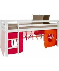 Kinder HOPPEKIDS Halbhohes Bett Multicolor pink