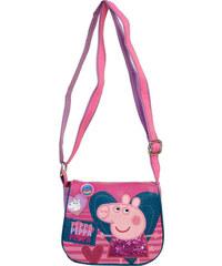Azzar dětská kabelka Peppa Pig srdce polyester růžová 17x16x5 cm