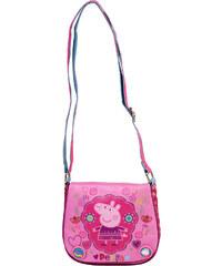 Azzar dětská kabelka Peppa Pig květiny polyester růžová 17x16x5 cm