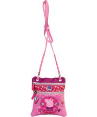 Azzar dětská kabelka Peppa Pig květiny polyester růžovo fialová 17x15x1 cm