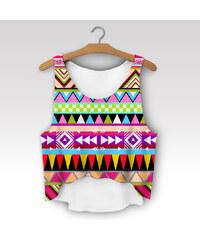 Wayfarer Crop-top tílko Aztec rainbow