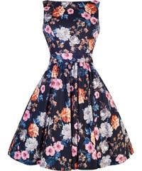 Retro šaty Lady V London Summer Carnation Floral Tea