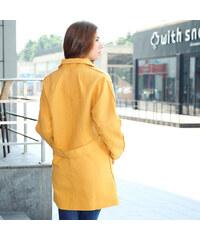 Lesara Trenchcoat mit offenen Kanten - Gelb - S
