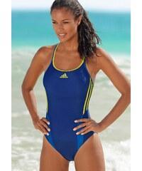 Große Größen: Badeanzug, adidas Performance, blau-lime, Gr.36-46