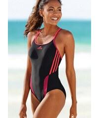 Große Größen: Badeanzug, adidas Performance, schwarz-pink, Gr.36-46