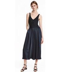 H&M Saténová kalhotová sukně