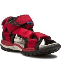Sandály GEOX - J Borealis B. D J620RD 00011 C0020 czerwony/Czarny