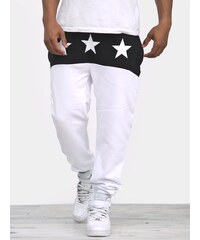 MyStars Three Stars Pants White Black