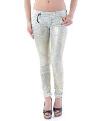 Dámské kalhoty Sexy Woman 66486 - XS / Zlatá