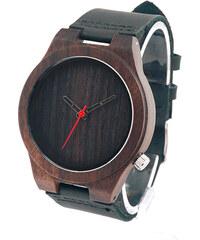 Lesara Armbanduhr aus schwarzem Sandelholz & Leder
