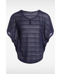 T-shirt femme esprit poncho Bleu Polyester - Femme Taille S - Bonobo