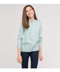 C&A Langärmelige Baumwoll-Satin-Bluse in mintGrün