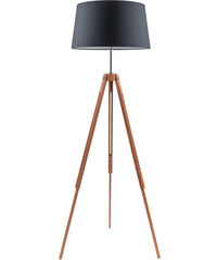 Stojací lampa Tripod Britop, černá/přírodní