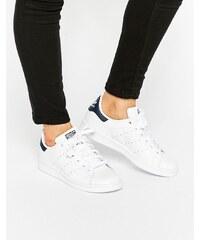 Adidas Originals - Stan Smith - Baskets - Blanc et bleu marine - Blanc