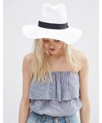 ASOS - Fedora-Hut aus Stroh - Weiß