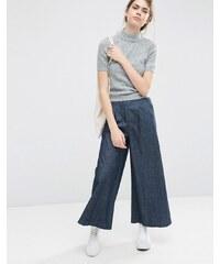 ASOS - Pantalon large en jean texturé - Bleu