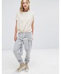 Daisy Street - Pantalon de survêtement avec lien à la taille - Gris