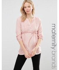Mama.licious Mamalicious Maternity - Pigment - Blouse avec détail dentelle - Rose