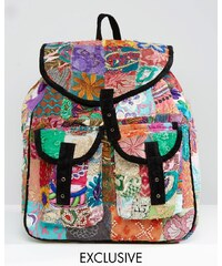 Reclaimed Vintage - Sac à dos style patchwork - Multi