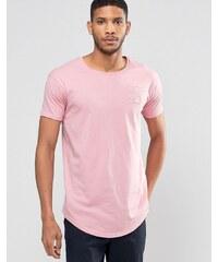 SikSilk - T-shirt avec logo et ourlet incurvé - Rose