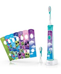 Philips Sonicare For Kids Connected Schallzahnbürste HX6322/04, inkl. 8 Aufkleber