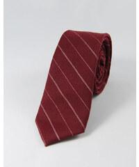 TOFFSTER Krawatte Rot Streifen