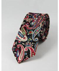TOFFSTER Krawatte Schwarz Paisley