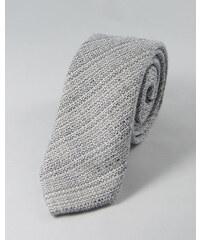 TOFFSTER Krawatte Grau Weiß