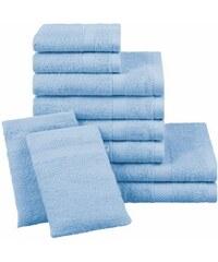 Dyckhoff Handtuch Set Planet mit schlichter Bordüre blau 10tlg.-Set (siehe Artikeltext)