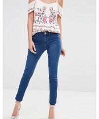 Oasis - Jean skinny à taille mi-haute - Bleu délavé - Bleu