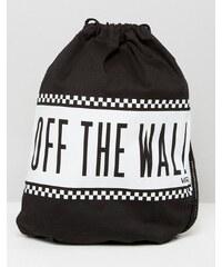 Vans - Sac à dos avec cordon de serrage - Noir et blanc - Multi