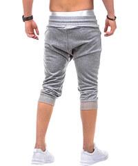 Lesara 3/4-Sweatpants mit Reißverschluss-Details - Grau - S