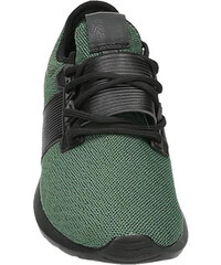 Lesara Zweifarbiger Sneaker mit Details in Leder-Optik - Grün - 40