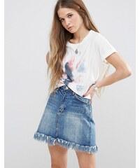 Pepe Jeans - Phoebe - T-shirt à imprimé drapeau américain - Blanc