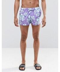 Swells - Short court à imprimé hibiscus - Bleu