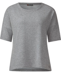 Street One - T-shirt ample côtelé Fay - ghost grey melange