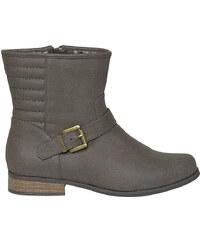 Boots plat marron E-you
